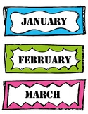 months of the year and days of the week labels