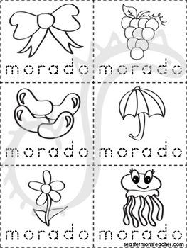 morado/violeta color book (Spanish)
