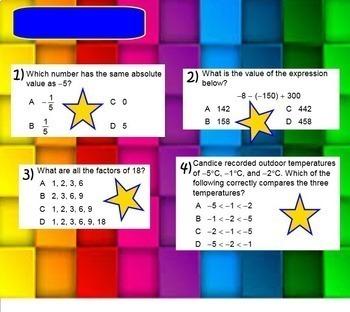 more STAAR grade 6 Warmups 5 days one week math warm ups smartboard