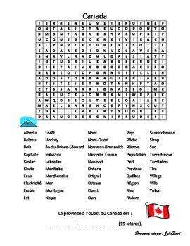 mot caché sur le Canada
