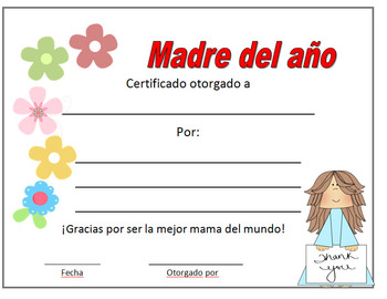 mother's day craft  In English and Español