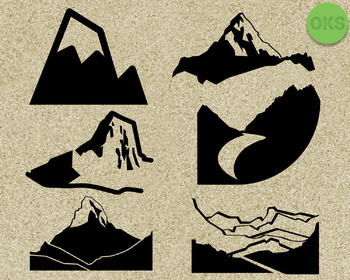 mountain SVG cut files, DXF, vector EPS cutting file instant download for cricut