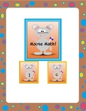 mouse math matching game or flash cards freebie