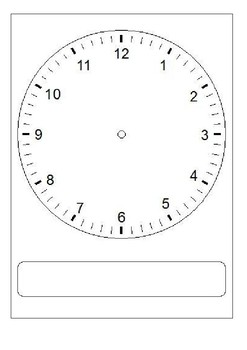 moveable clock template