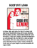 movie worksheet over the German movie GOOD BYE LENIN