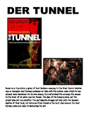 movie worksheet over the German movie THE TUNNEL (der Tunnel)
