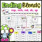 mp, nch, sk, sp, & nd Ending Blends Worksheets, Sorts, & Assessment