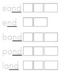 mp, sk, nt, st, sp, nd Ending Sounds blends