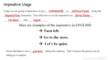 Direct object pronouns in french: imperative, commands | tpt.
