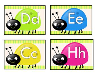 multi colored alphabet ladybug