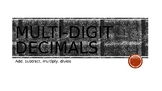 multi-digit decimals