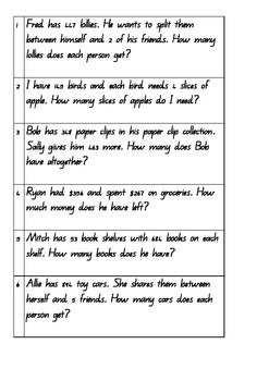 multi step problem solving questions