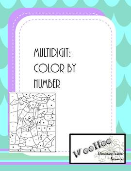 multidigit addition/subtraction: color by number
