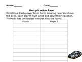 multiplcation race