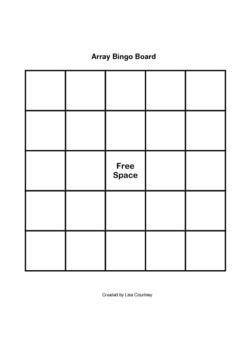 multiplication - ARRAY BINGO
