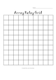 multiplication ARRAY Relay Activity -  multiplication facts & arrays