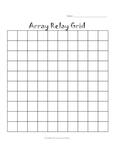 multiplication ARRAY Relay Activity -  multiplication facts & arrays
