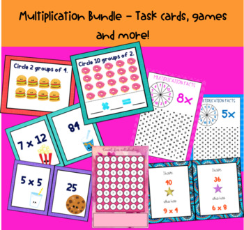 Multiplication Task Cards and Games GROWING BUNDLE #luckydeals