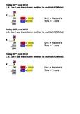 multiplication TU x U help sheet