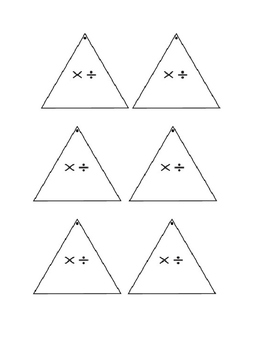 multiplication and division fact triangles