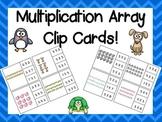 Multiplication Arrays Clip Cards!
