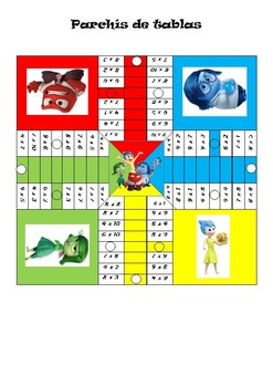 multiplication board game (parchis)