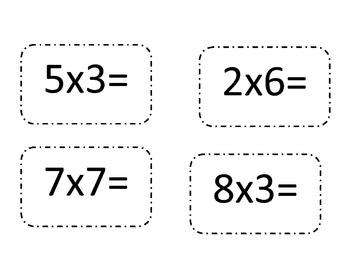 multiplication fact war card game (simple)