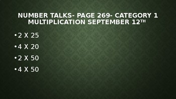 multiplication number strings and number talks
