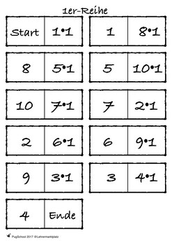 multiplication up to 100 - Dominos