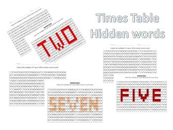 multiplication worksheets - reveal the hidden word