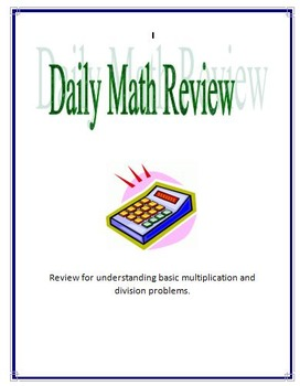 multiplication/division daily practice
