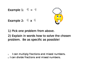 multiply and divide fractions and mixed numbers stations project