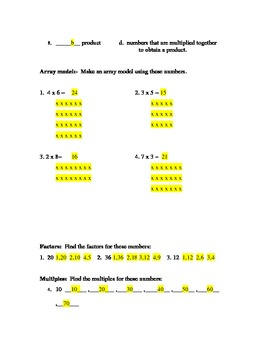 multiply me ( a multiplication test)