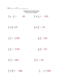 multiplying and dividing fractions worksheet