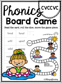 multisyllabic cvccvc PHONICS BOARD Game