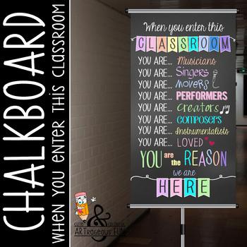 music CHALK - Classroom Decor: SMALL BANNER, When You  Enter this Classroom