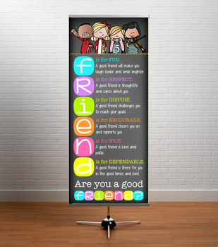 music CHALK {melonheadz} - Classroom Decor: LARGE BANNER, FRIEND - BRIGHTS