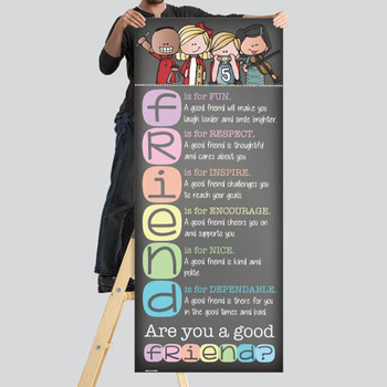 music CHALK {melonheadz} - Classroom Decor: LARGE BANNER, Are You a Good FRIEND?