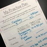 music lesson practice plan