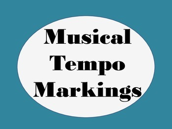 musical tempo markings