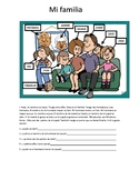 my family worksheet / mi familia