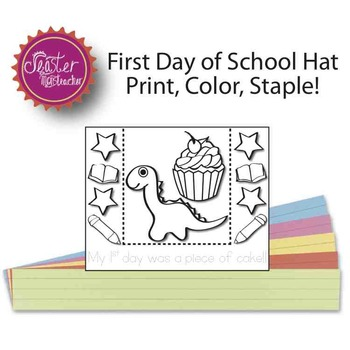 my first day was a piece of cake dinosaur headband BLACK AND WHITE