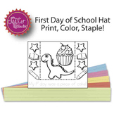 my first day was a piece of cake dinosaur headband BLACK A