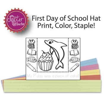my first day was a piece of cake fish ocean headband BLACK AND WHITE