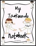 my taekwondo notebook cover