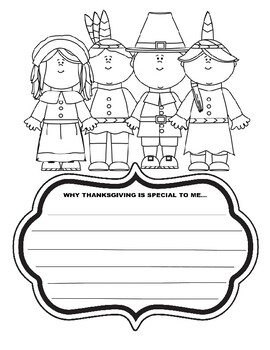 my thanksgiving is special to me thanksgiving writing prompt kids art coloring