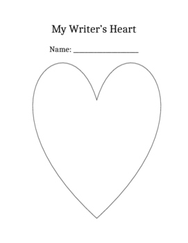 my writer's heart