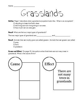 "myON Activity to Supplement the Text ""Grasslands: Fields o"