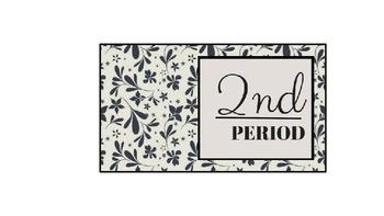 myTEACHERSlounge Custom Class Period Posters/Prints: Classic Filigree Set