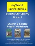 myWorld Grade 5 Leveled Readers Comprehension Worksheets for Chapter 2